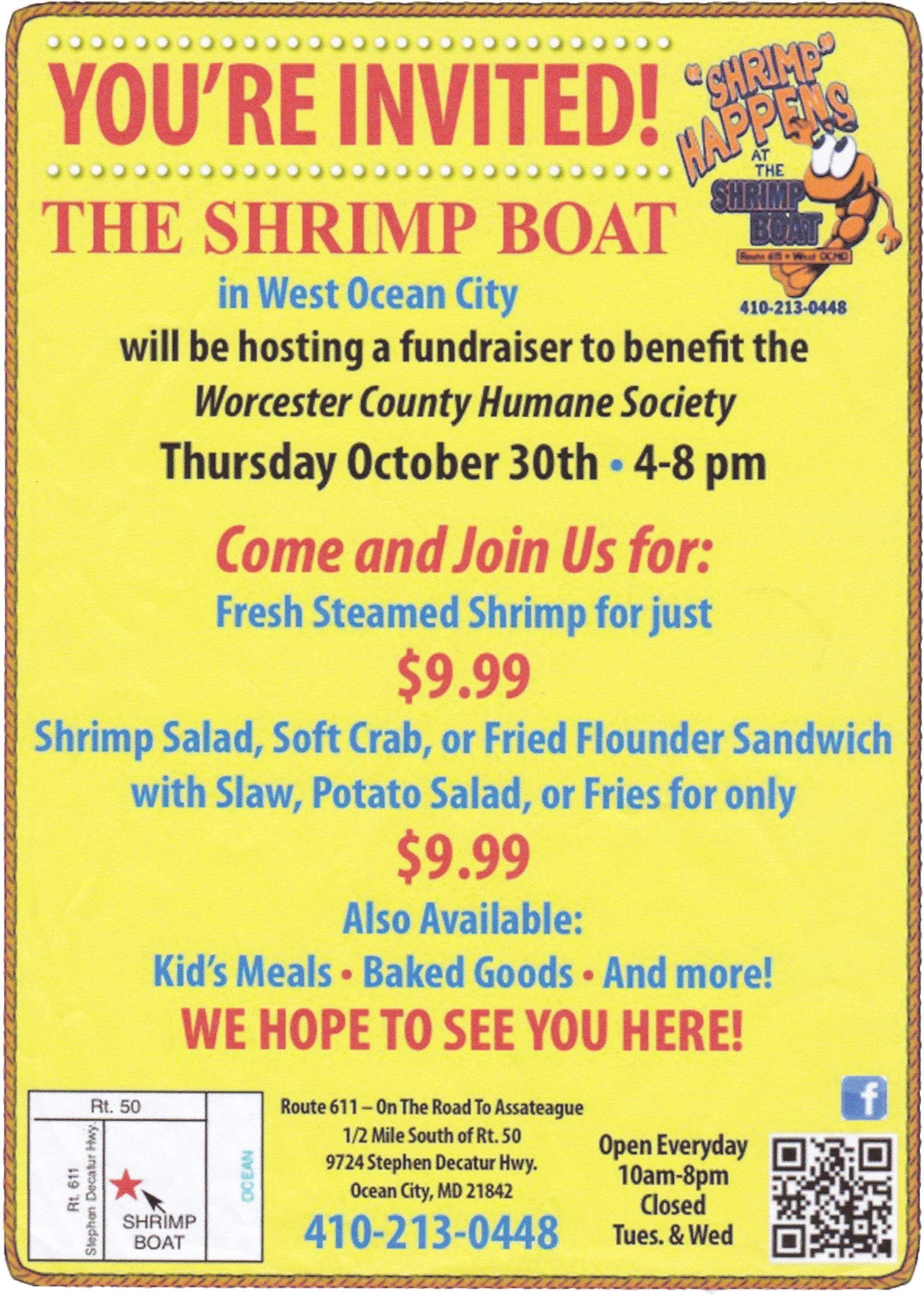 shrimp boat fundraiser Worcester County Humane Society